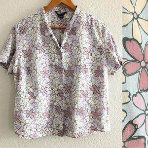 Woolrich Floral Short Sleeve Button Up Shirt XL